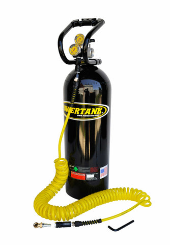 co2 tank portable air system 20 lb gloss black power tank