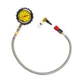 Tire Pressure Gauge 60 PSI Liquid Analog with 2 foot Whip from Power Tank