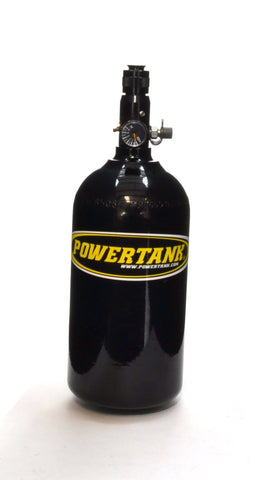 Nitrogen Bottle with Regulated Valve Gloss Black Powdercoat Power Tank