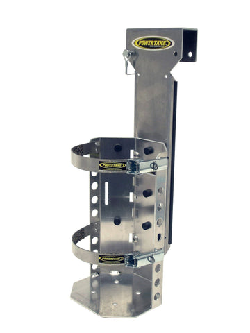hangman bracket allows use of 10 lb or 15 lb Power Tank on ladder or scissor lift