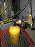 Mini CO2 Tank Pin Valve Fill Adapter Power Tank - in use