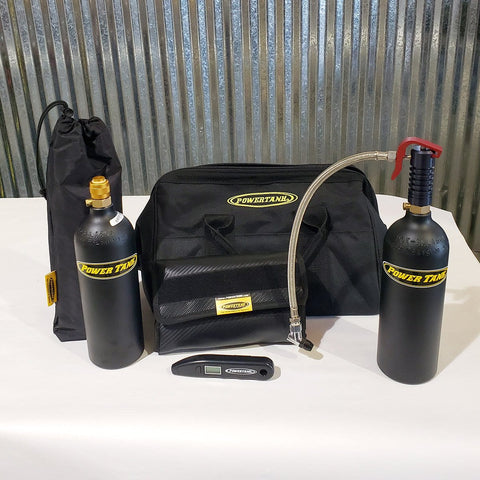 Crossover Tire Air-Up and Repair Kit with Mini Power Tank CO2 Air Source