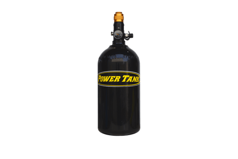 Power Tank BLEM - Nitrogen Bottle with Regulated Valve Gloss Black Powdercoat Power Tank Clearance