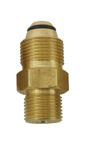 Power Tank N2 male to CO2 male Adapter Brass Fitting