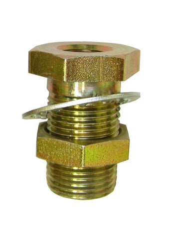 1/4 FPT x 1/4 FPT Brass Bulkhead - air fitting