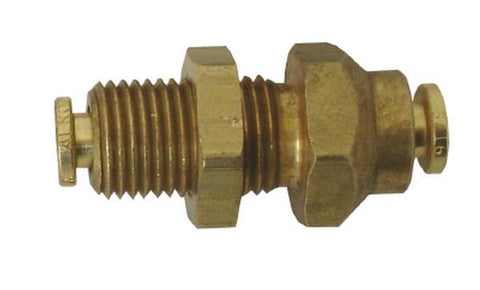 5mm x 5mm Brass Bulkhead Coupler - air fitting