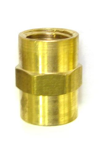 1/4 FPT x 1/4 FPT Brass Coupler