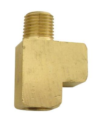 1/4 MPT x 1/4 FPT x 1/4 FPT Brass Street Tee - air fitting