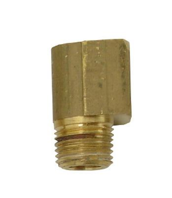 "Power Tank 1/8"" FPT x 1/8"" MPT 90° Brass Elbow Fitting"