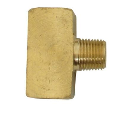 1/8 FPT x 1/8 MPT x 1/8 FPT Brass Branch Tee - air fitting