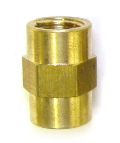 1/8 FPT x 1/8 FPT Brass Coupler