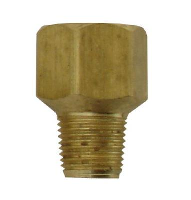 1/8 MPT x 1/4 FPT Brass Adapter - air fitting
