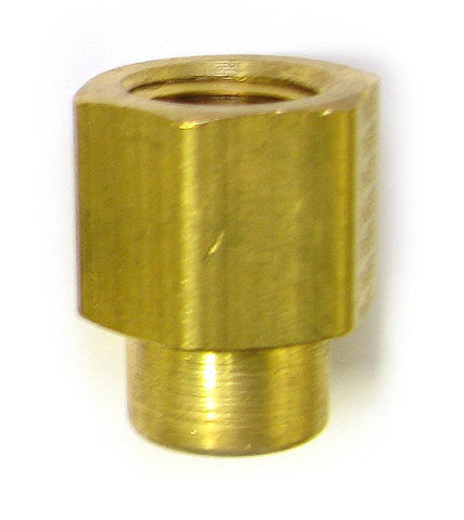 1/8 FPT x 1/4 FPT Brass Reducer