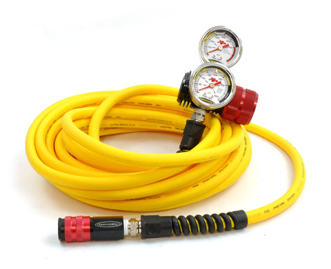 400 psi Nitrogen regulator with 30 foot hose for shock inflating