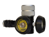 160 psi regulator for paintball bottles - 3/4 view