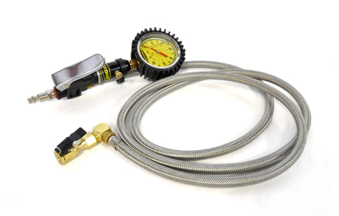 Trooper Safety Series - 0-60 psi Liquid Analog Tire Inflator w/ 6' Hose Whip  Alt tag