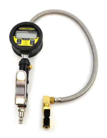 Racer Series Digital Tire Inflator 100 PSI Steel Braided Hose Clip On Chuck Power Tank