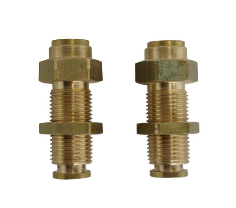 3/8 Hose Push-in x 3/8 Hose Push-in Brass Bulkhead Fitting