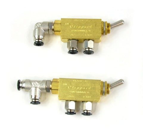 Pneumatic toggle switches pair Power Tank.