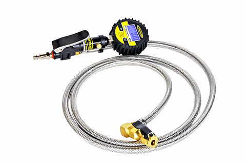 Power Tank Workhorse Safety Series - 5-150 psi Digital Tire Inflator w/ 6' Hose Whip Euro Clip-On (standard) Tire Inflator with Gauge