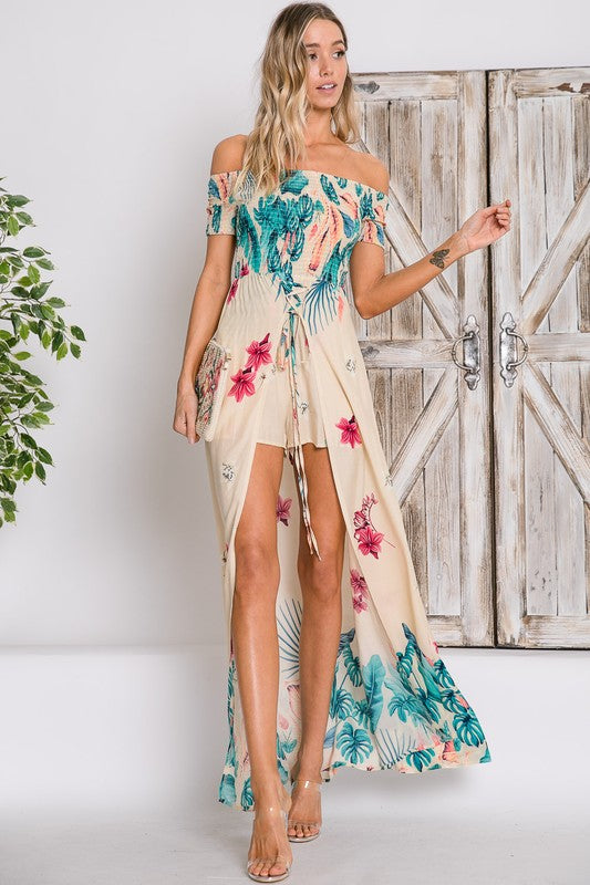 7ab8cd2f414d PREORDER- Carried Away Off The Shoulder Maxi Romper