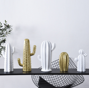 Funky Cacti Ornament | Ceramic Cactus Decoration - Negative Space