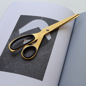 Brushed Gold Scissors - Negative Space