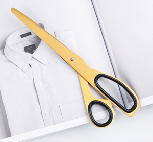 Brushed Gold Stainless Steel Scissors - Negative Space