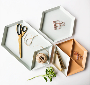 Colour Pop Geometric Shape Tray - Negative Space