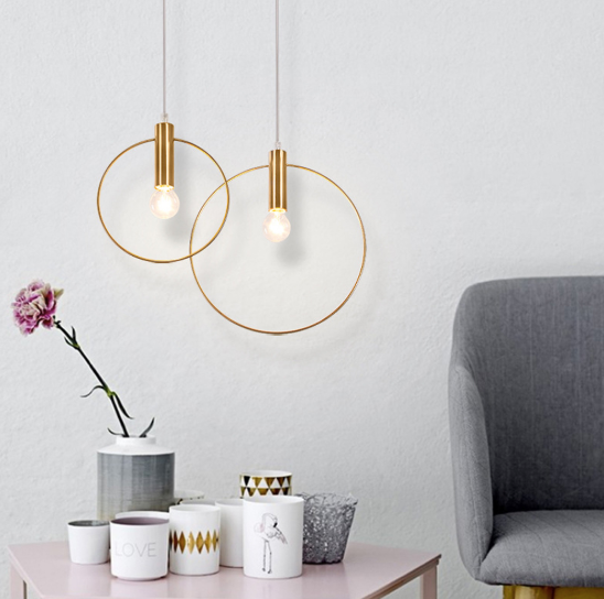 Halo Gold Pendant Light