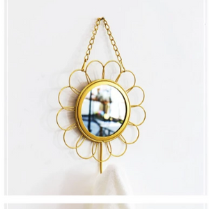 Art Deco Hanging Wall Mirror | Clothes Hook
