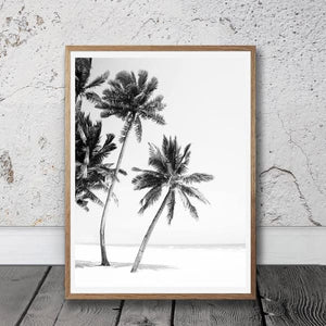 Beach Palm Quote Print - Negative Space