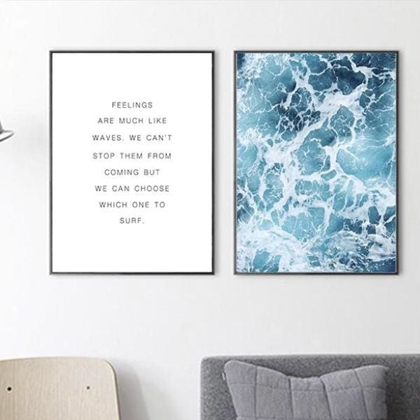 Blue Wave Quote PrintNegative Space Negative Space