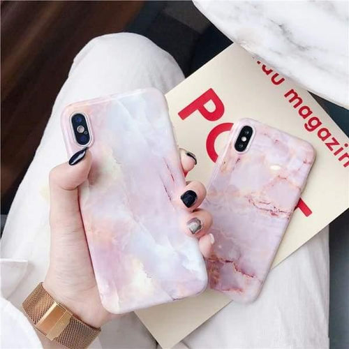 Blush Marble Iphone Case - Tech Negative Space Free Shipping Phone Case