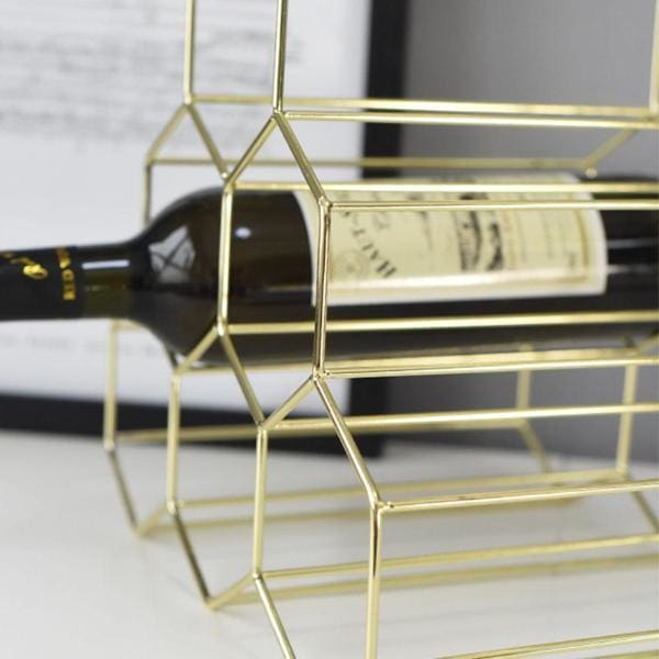 Geometric Shape Bottle Rack - Negative Space