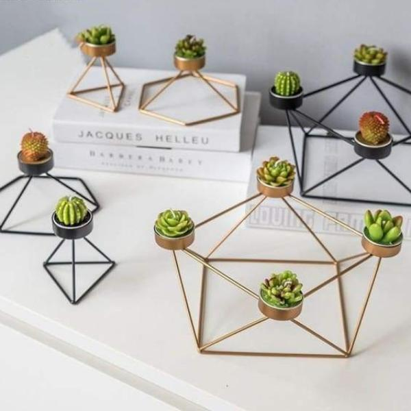 Geometric Candle Holder - Negative Space