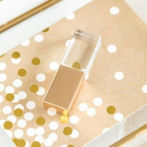 Glam Crystal Flash Drive - Negative Space
