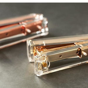 Luxe Gold Clear Acrylic Stapler - Negative Space