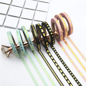 Gold Foil Washi Tape 3pcs - Negative Space