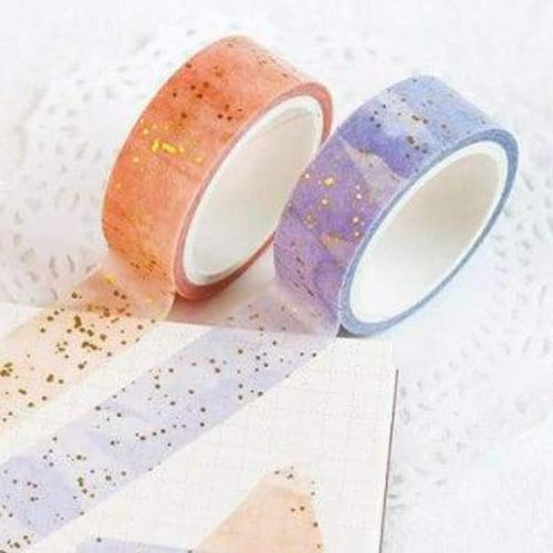 Gold Splatter Washi Tape - Stationery Negative Space Free Shipping Decor Gift Gifts Office Tape