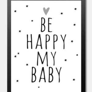 Happy Quotes Kids Print - Negative Space