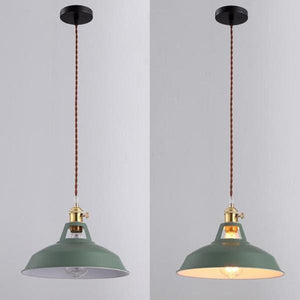 Industrial Pendant LightGreen / With Bulb 110VNegative Space Negative Space