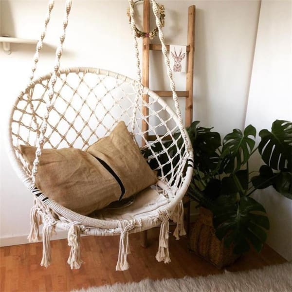 Macrame Hammock Swing - Negative Space