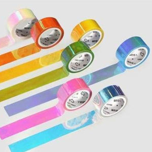 Metallic Rainbow Washi Tape - Negative Space Free Shipping Decor Gifts Office Stationery