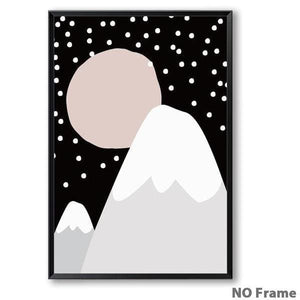 Midnight Mountain Kids Print - Negative Space