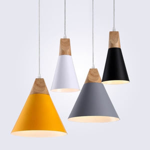 Modern Wood Pendant Light - Negative Space