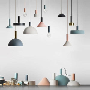 Nordic Style Lampor Lighting Range | Industrial Pendant Ceiling Lights - Negative Space