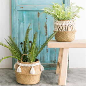 Macrame Woven Storage Basket - Negative Space