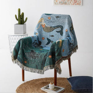 Printed Woven Throw Blanket - Negative Space