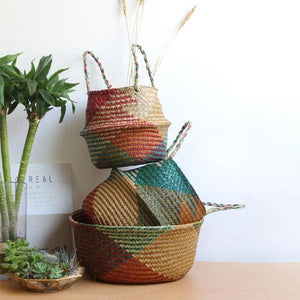 Rattan Storage Basket Multi - Negative Space